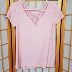 American Eagle Baby Pink Soft & Sexy Top